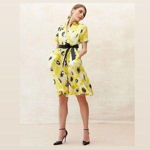Kate Spade Sunny Daisy Organza Silk Shirtdress